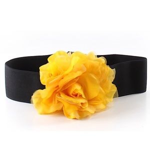 Accessories - Yellow Rose Floral Belt
